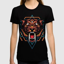 Saber tooth sacred geometry T-shirt