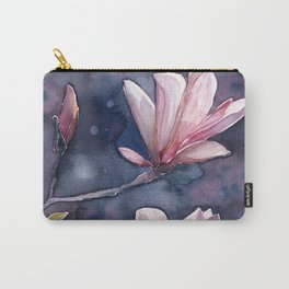 Winter Magnolia, watercolor artwork Carry-All Pouch
