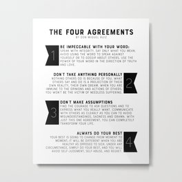 The Four Agreements by don Miguel Ruiz Metal Print