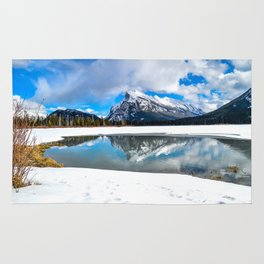 Banff-Canada-Rockie mountains Rug