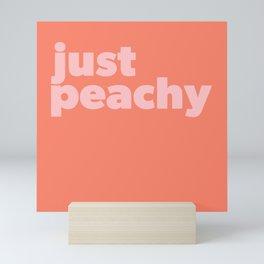 Just Peachy Mini Art Print