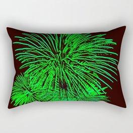 Neon Fireworks Rectangular Pillow