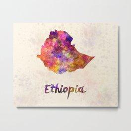 Ethiopia in watercolor Metal Print