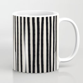 Black Vertical Lines Coffee Mug