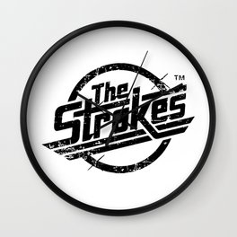 the strokes in black Wall Clock