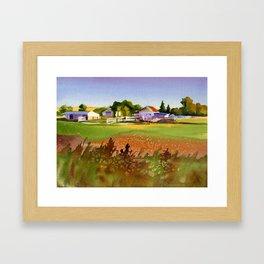 A Kansas Farm Framed Art Print