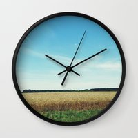 alabama Wall Clocks featuring alabama wheat. by Lauren Fobes