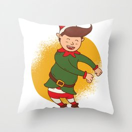 Elf Dancer, Christmas Spirit Throw Pillow