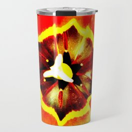 Orange Red Calyx Travel Mug
