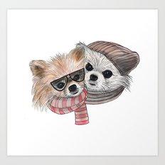 cute friends Art Print