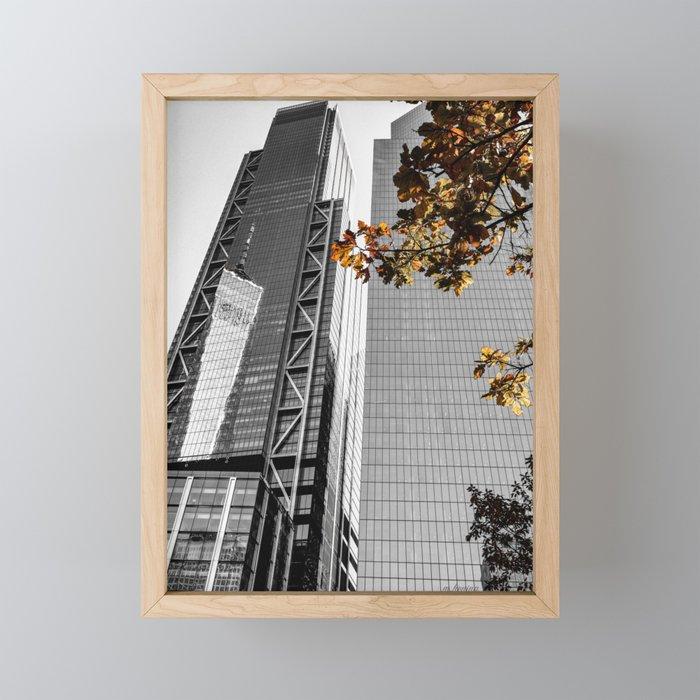 Fall in New York Framed Mini Art Print