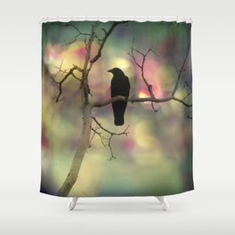 Crow Dreams In Colors Shower Curtain