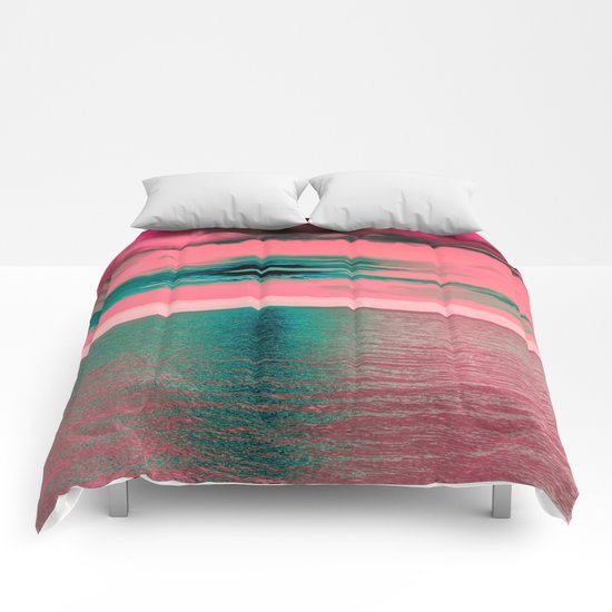 Sunset at Sea Comforters