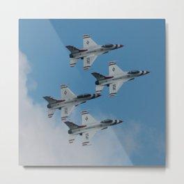 USAF Thunderbirds Diamond 4 Metal Print