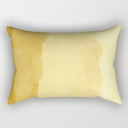 Ombre Waves in Gold Rectangular Pillow