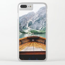Wanderlust: Taking the Sustainable Route Clear iPhone Case