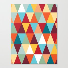 Geometric Color #abstract #bright #triangles Canvas Print