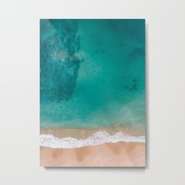 Beach and Sea Metal Print
