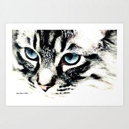 Cat By Annie Zeno  Art Print