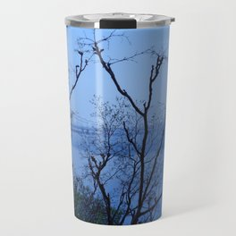George Washington Bridge in Fog Travel Mug
