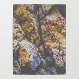 colorful textured rock background Poster