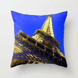 Eiffell Tower Throw Pillow