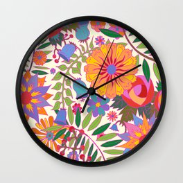 Just Flowers Lite Wall Clock