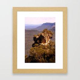 Blue Mountains Rockface Framed Art Print