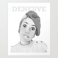 Catherine Deneuve Art Print