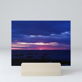 Purple Sunset over Sea Mini Art Print
