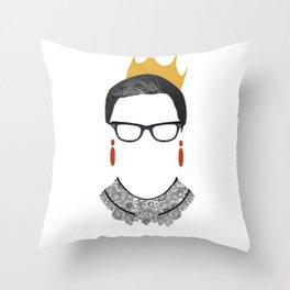 RBG Ruth Bader Ginsburg Drawing Throw Pillow