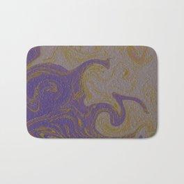 ,gold,rose,black,golden fractal, vibrations, circles modern pattern Bath Mat