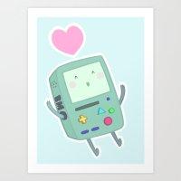 BMO loves you! Art Print