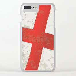 Flag of England and Saint George Grunge Clear iPhone Case