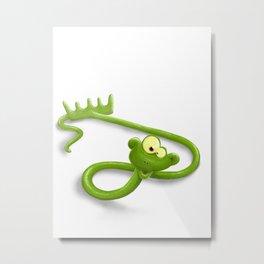 rake in a snake Metal Print