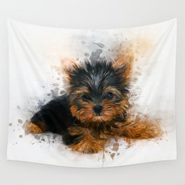 Yorkshire Terrier Puppy Wall Tapestry