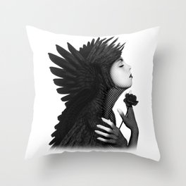 Eloa - The angel of sorrow and compassion Throw Pillow