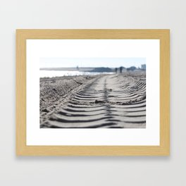Traces in the sand 2 Framed Art Print