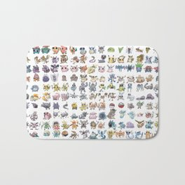 Pokémans! 151 Lazy-Drawn Pocket Monsters ( Bath Mat