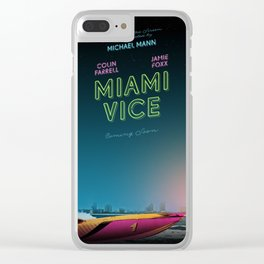 Miami Vice / Inherent Vice mashup poster Clear iPhone Case
