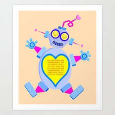 I Love You (In Binary)  |  Lovebot Art Print