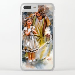 Jesus Is With You Clear iPhone Case