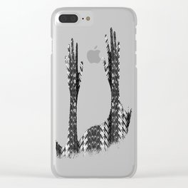 Metal Cord Clear iPhone Case