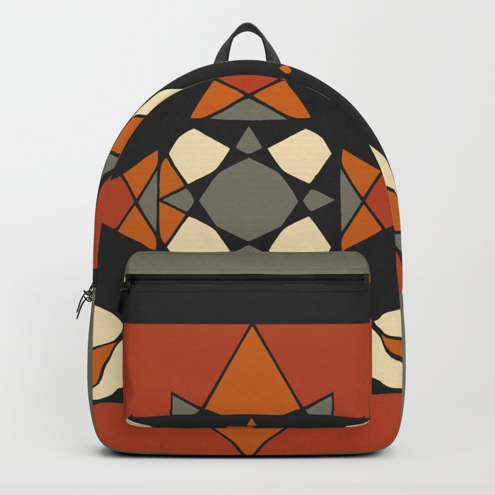 Mandala earth colors Backpack