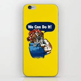 We Can Do It English Bulldog iPhone Skin