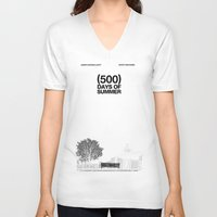 500 days of summer V-neck T-shirts featuring (500) Days of Summer by Martin Lucas