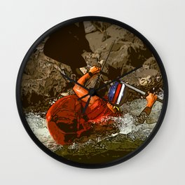 Salmon River Kayaker Wall Clock