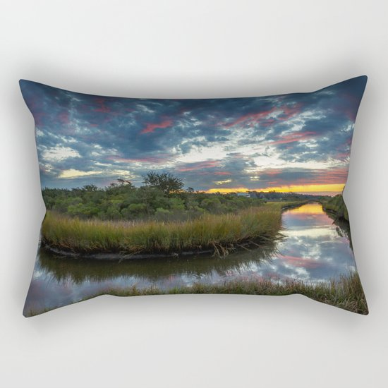 Mississippi Coastal Sunrise Rectangular Pillow