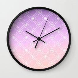 Geometric II White Wall Clock