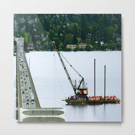 Bridge Cable Work Metal Print